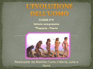 LEVOLUZIONE DELLUOMO CLASSE 3C Istituto comprensivo Pisacane Poerio
