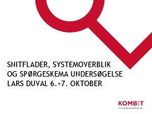 SNITFLADER SYSTEMOVERBLIK OG SPRGESKEMA UNDERSGELSE LARS DUVAL 6