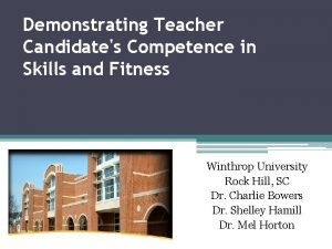 Demonstrating Teacher Candidates Competence in Skills and Fitness