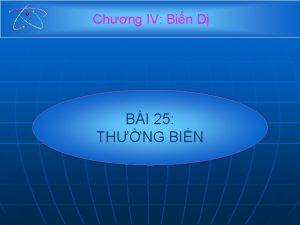 Chng IV Bin D BI 25 THNG BIN