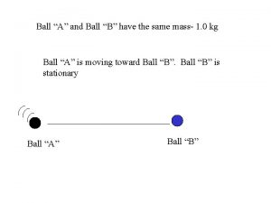 Ball A and Ball B have the same