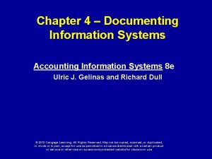 Chapter 4 Documenting Information Systems Accounting Information Systems