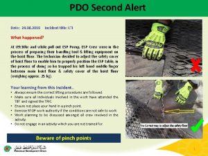 PDO Second Alert Date 24 08 2016 Incident