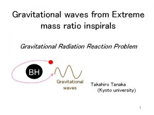 Gravitational waves from Extreme mass ratio inspirals Gravitational