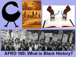 AFRO 100 What is Black History What is