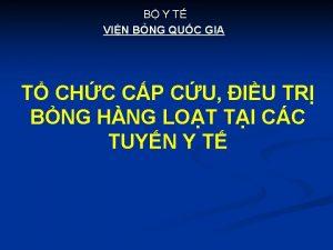 B Y T VIN BNG QUC GIA T