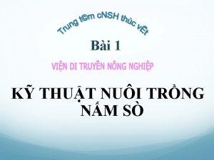 Bi 1 K THUT NUI TRNG NM S