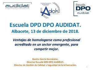 Escuela DPD DPO AUDIDAT Albacete 13 de diciembre