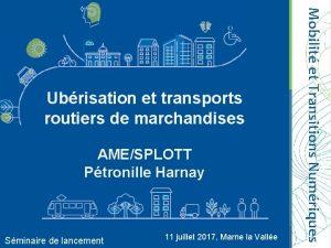 AMESPLOTT Ptronille Harnay Sminaire de lancement 11 juillet