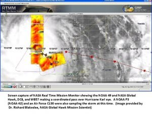 Screen capture of NASA Real Time Mission Monitor