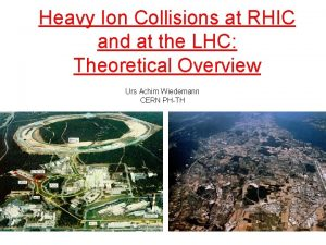Heavy Ion Collisions at RHIC and at the