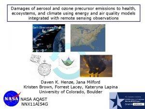 Damages of aerosol and ozone precursor emissions to