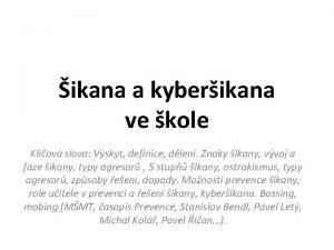 ikana a kyberikana ve kole Klov slova Vskyt