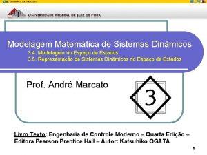 Modelagem Matemtica de Sistemas Dinmicos 3 4 Modelagem
