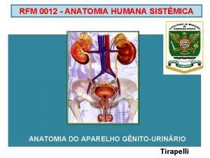 RFM 0012 ANATOMIA HUMANA SISTMICA ANATOMIA DO APARELHO