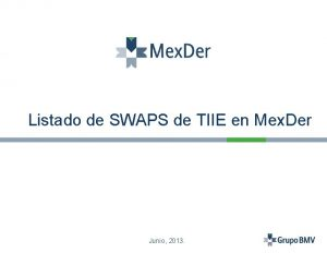 Listado de SWAPS de TIIE en Mex Der