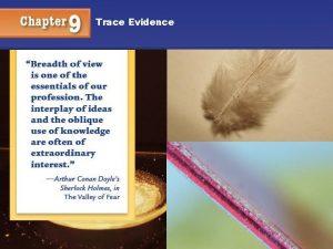 Trace Evidence 1 Trace Evidence Objectives You will