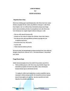 AUDIT INTERNAL TM 7 KERTAS KERJA Pengertian Kertas