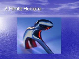 A Mente Humana A mente humana grava e
