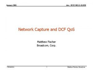 January 2001 doc IEEE 802 11 01058 Network