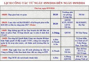 LCH CNG TC T NGY 0592016 N NGY