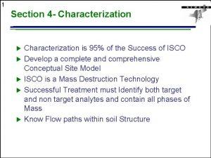 1 Section 4 Characterization u u u Characterization