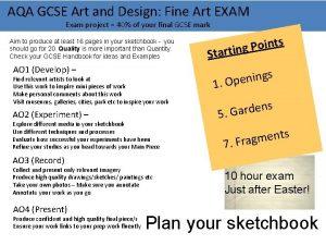 AQA GCSE Art and Design Fine Art EXAM
