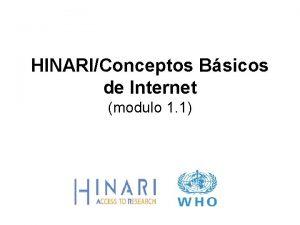 HINARIConceptos Bsicos de Internet modulo 1 1 MODULO