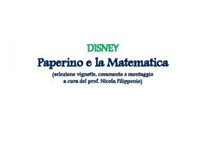 DISNEY Paperino e la Matematica selezione vignette commento