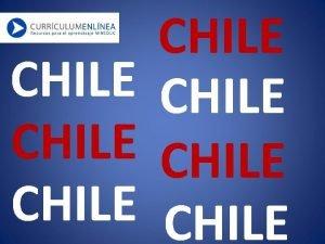 CHILE CHILE Mapa Poltico de Chile PAISAJES DE
