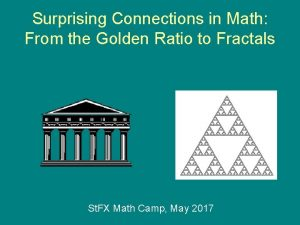Surprising Connections in Math From the Golden Ratio