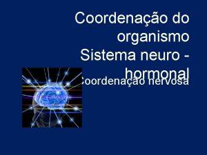 Coordenao do organismo Sistema neuro hormonal Coordenao nervosa