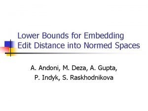 Lower Bounds for Embedding Edit Distance into Normed