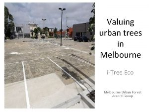 Valuing urban trees in Melbourne iTree Eco Melbourne