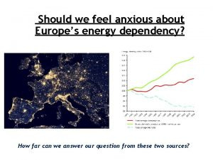 Should we feel anxious about Europes energy dependency