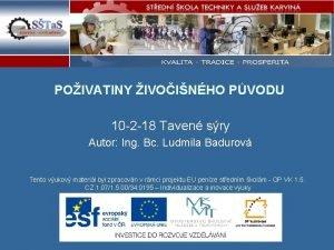 POIVATINY IVOINHO PVODU 10 2 18 Taven sry