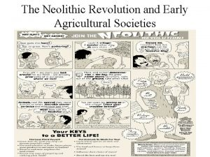 The Neolithic Revolution and Early Agricultural Societies http