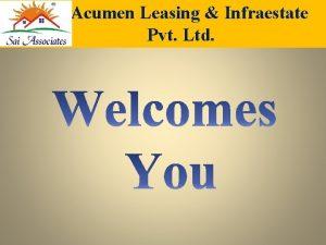 Acumen Leasing Infraestate Pvt Ltd Acumen Leasing Infraestate