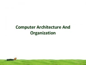 Computer Architecture And Organization popo Difference between computer