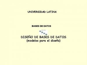 UNIVERSIDAD LATINA BASES DE DATOS DISEO DE BASES