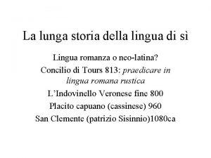 La lunga storia della lingua di s Lingua