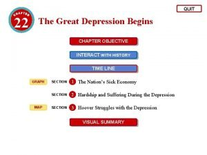QUIT 22 The Great Depression Begins CHAPTER OBJECTIVE