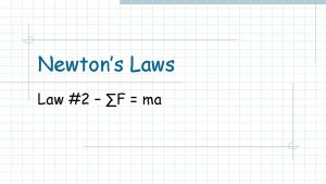 Newtons Law 2 F ma Intro thoughts Newtons