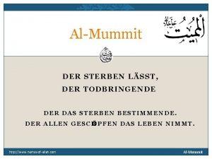 AlMummit DER STERBEN LSST DER TODBRINGENDE DER DAS