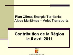 Plan Climat Energie Territorial Alpes Maritimes Volet Transports