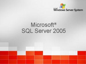 Microsoft SQL Server 2005 Introduccin SQL Server 2005