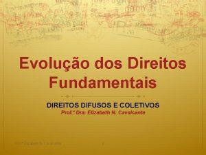 Evoluo dos Direitos Fundamentais DIREITOS DIFUSOS E COLETIVOS