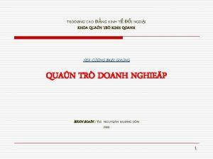 TRNG CAO NG KINH T I NGOI KHOA