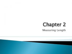 Chapter 2 Measuring Length 2 1 Imperial units