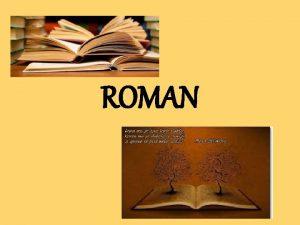 ROMAN EPIKA U PROZI JEDNOSTAVNI PROZNI OBLICI nastali